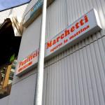Insegna retroilluminata con adesivi pre spaziati - Panificio Marchetti - Piombino (LI)