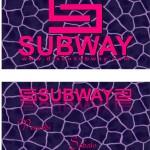 Flyer pubblicità discoteca - Subway - Follonica (GR)