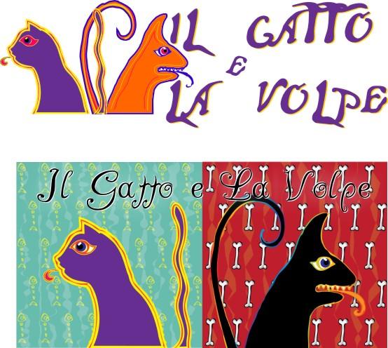 GATTO E LA VOLPE creazione logo - Piombino (LI)